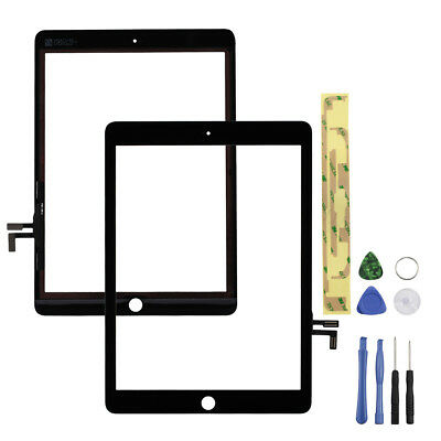 """Touch Screen Glass Digitizer Repalcement for 2017 iPad 9.7"""" A1822 A1823 Black OZ"""