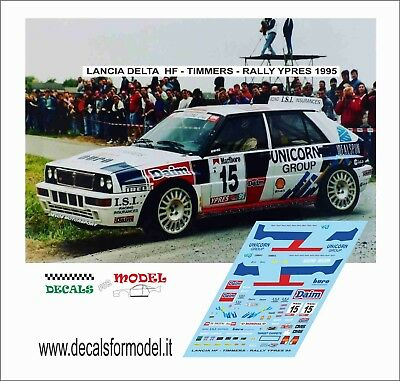 Decal 1:43  Lancia Delta Hf Integrale Timmers Rally Ypres 95