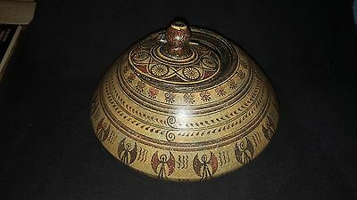 Ancient Greek vase Pyxis Mycenaean Period pottery art hand made replica