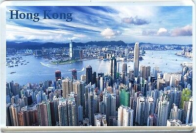 Hong Kong Skyline Fridge Magnet-2
