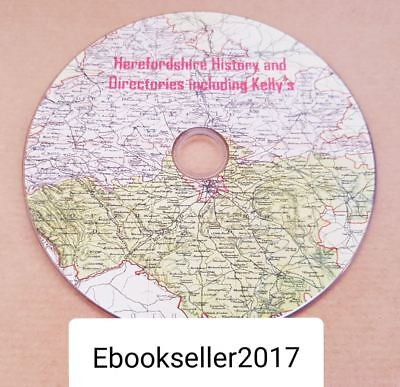 ebooks, 57 of Herefordshire history, & Directories & kellys directories, on disc