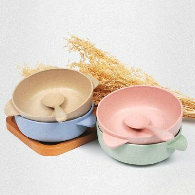 Eco-friendly Children Feeding Bowl With Spoon Biodegradable Tableware Set AZ