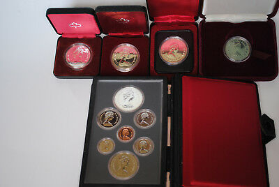 Canadian Proof/Mint Coin Collection 1978, 1979, 1980, 1982 in Mint Packaging