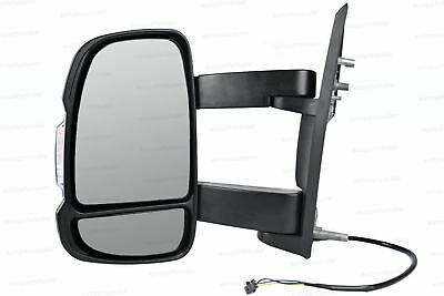 Left Wing mirror Complete Unit  for Citroen Relay 2006-2018 Long Arm