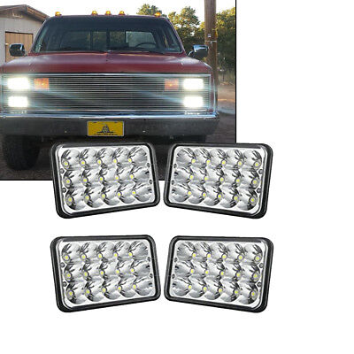 4X DOT Approved 4x6in LED Headlights HI/LO for Peterbilt Kenworth Freightliner