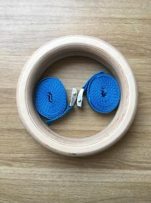 Gymnastic wooden cross fit rings NDR SPORT 17cm Ø