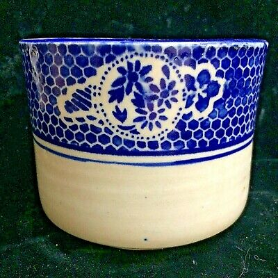 Antique Blue And White Chinese Brush Pot