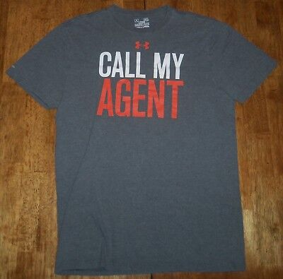 Under Armour - Charged - Call My Agent - Men's Size Medium Short Sleeve - Gray