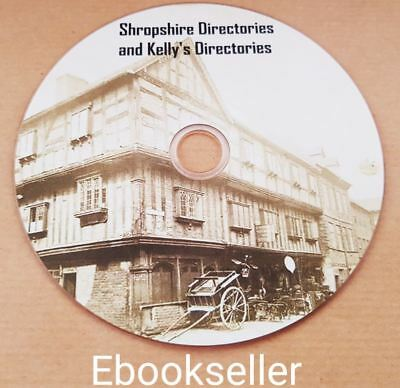Shropshire historical Directories and kellys, directories ebooks, in pdf on disc