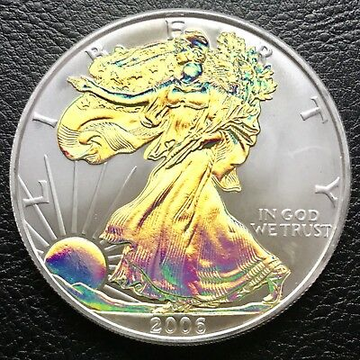 2006 Silver American Eagle Gold Hologram 1 Troy oz .999 Fine silver Coin (1890)