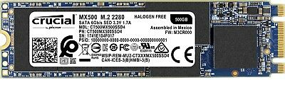 Crucial 500GB MX500 M.2 2280 SATA 3.0 (CT500MX500SSD4)