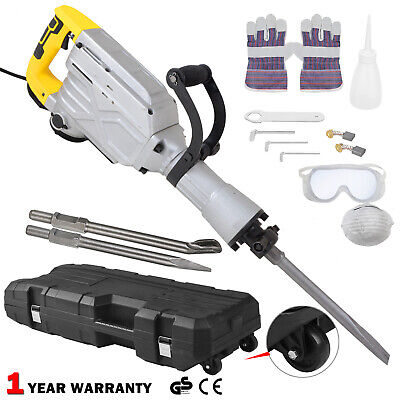 Electric Demolition Hammer Drill Concrete Breaker Jack Hammer Power Tool 1800W