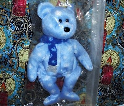 Ty Beanie Baby 1999 HOLIDAY TEDDY BEAR Plush Toy ~ NEW With Tag ~ Mint In Bag!