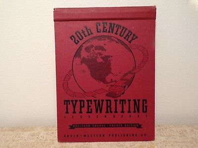 Vtg 1942 20Th Century Typewriter Typewriting Lesson Book Complete 1 Yr Course 61