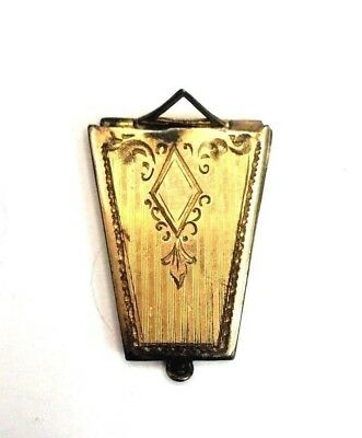 Neat Art Deco Antique Gold Filled Engraved Locket Pendant