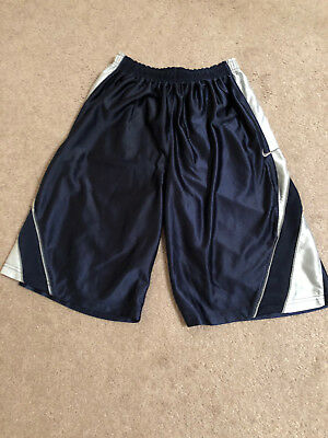 Girls youth Nike Basket Ball Shorts Blue and White (Free shipping)