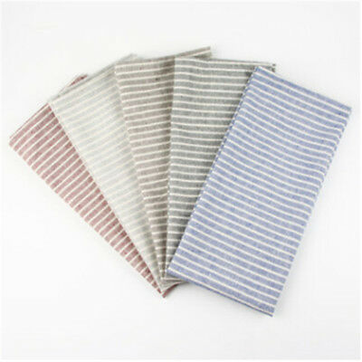 Striped Cotton Linen Placemat Dining Room Kitchen  Home Cloth Coaster Table Mat
