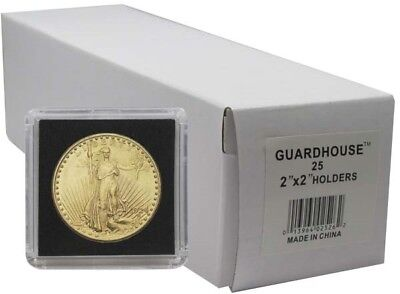 2x2 Snaplocks 32.7mm Oz Gold Eagle Size Box of 25 Coin Holders Guardhouse Tetra