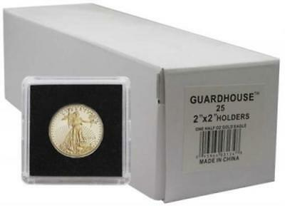 2x2 Snaplocks For 1/2 Oz Gold Eagle 27mm Box of 25 Coin Holders Guardhouse Tetra