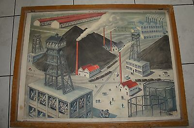Ancienne Affiche Scolaire Rossignol Geographie 59 60
