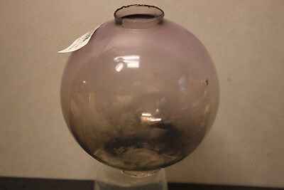 (AA-11538,B37) ANTIQUE LIGHTNING ROD BALL, Clear Purple, Hand Blown Glass, Used