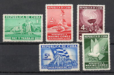 Spanish West Indies - Sc# 332 - 336 MH  /  Lot 0718065