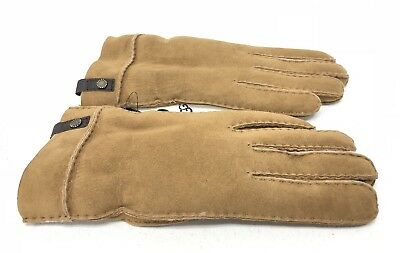2fb167d51 UGG Australia TENNEY SUEDE SHEEPSKIN CUFF WINTER GLOVES WOMEN Chestnut  1089900