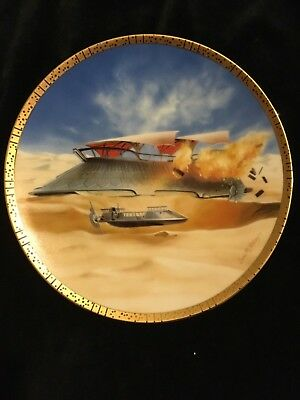 "Star Wars ""jabba's Sail Barge"" Collector's Plate"