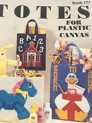 Totes for Plastic Canvas Book 177 Kappie Originals DIY Plastic Canvas Tote Bags