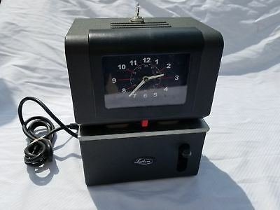 vintage lathem time clock model 2121 manual punch with key rh picclick com