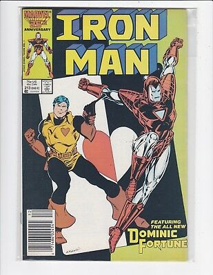 The Invincible Iron Man #213 newsstand - Very Fne/Near Mint