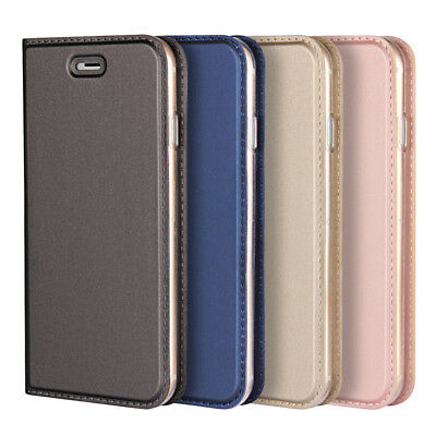 Ultra Slim Flip Card Wallet Leather Case Cover For iPhone 5S 6S Plus 7 8 Plus X