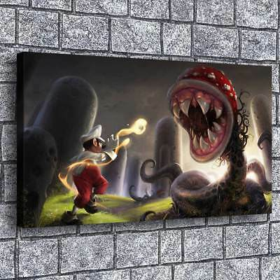 """12""""x20""""Super Mario Bros Poster Painting HD Print on Canvas Home Decor Wall Art"""