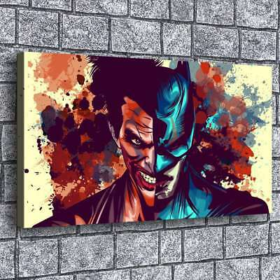 Joker and Batman Poster Painting HD Print on Canvas Home Decor Wall Art Picture