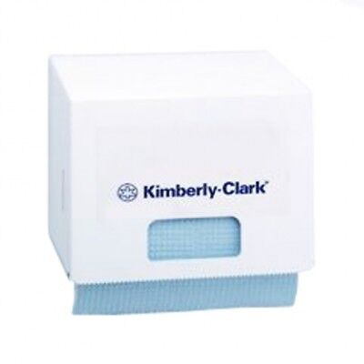New Kimberly Clark Kcp Wypall 4915 Roll Dispenser Small - White Enamel 265Mm W X