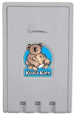 New Koala Kare Baby Change Table Kb101-01 Vertical - Grey Plastic