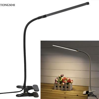 Flexible Clip On Led Table Lamp Read Study Bed Laptop Desk