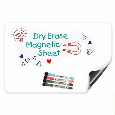 17 x 12 Magnetic Dry Erase White Board For Refrigerator & Kitchen Fridge Planner