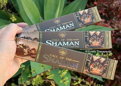 CALL OF THE SHAMAN MASALA INCENSE STICKS~Green Tree 15gms x3 Wicca Smudge Tribal