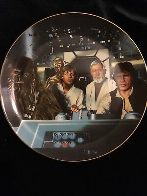 "Star Wars "" Crew In Cockpit"" Collector's Plate"