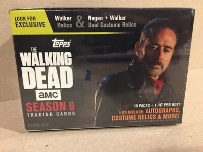 2017 Topps Walking Dead Season 6 Factory Sealed Blaster Box