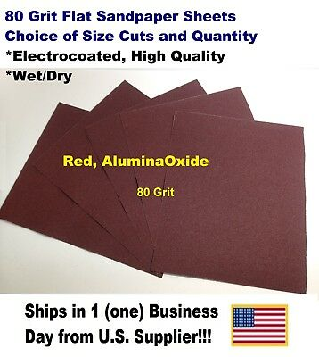 "80 Grit - Wet/dry Sandpaper Sheets 9""x11"" - Choice Of Quantity"