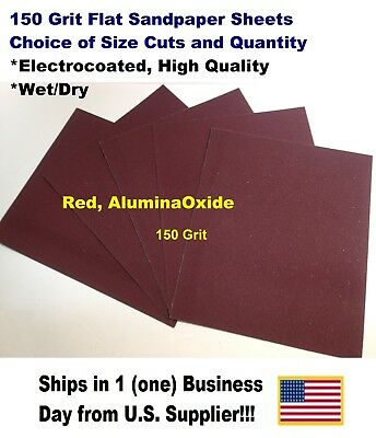 """150 Grit - Wet/dry Sandpaper Sheets 9""""x11"""" -Choice Of Quantity"""