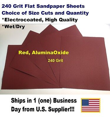 """240 Grit - Wet/dry Sandpaper Sheets 9""""x11"""" -Choice Of Quantity"""
