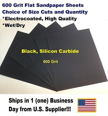 """600 Grit Wet/dry Sandpaper Sheets 9""""x11"""" -Choice Of Quantity"""