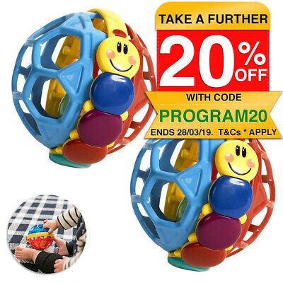 2PK Baby Einstein Baby Bendy Sound Ball Rattle/Activity Toy/Toddler/Infant 3m+
