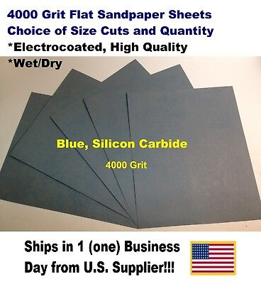 "4000 Grit Wet/dry Sandpaper Sheets 9""x11"" -Choice Of Quantity"