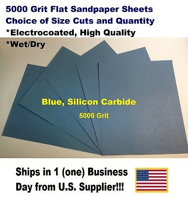 "5000 Grit Wet/dry Sandpaper Sheets 9""x11"" -Choice Of Quantity"