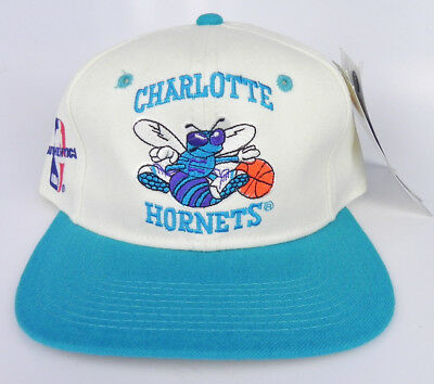 best website d92fd 8e20a Charlotte Hornets Nba Vintage Sports Specialties Fitted Cap Hat Size 7 1 4  Nwt!