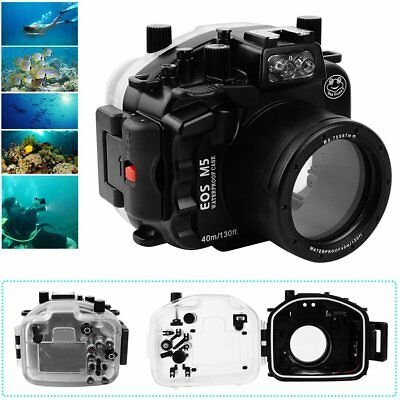 Seafrogs 40m Underwater Waterproof Case For Canon EOS M5 18-55mm Lens Camera